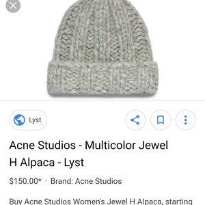 39f89f79420 Acne Studios Accessories - Jewel H Alpaca 17G163